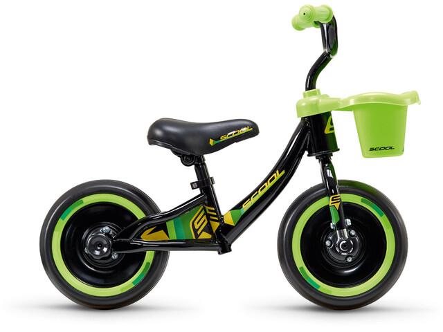 "s'cool pedeX 3in1 - Draisienne Enfant - 10"" vert/noir"